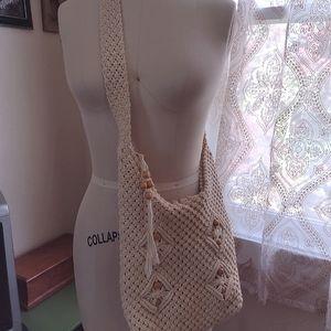 Macrame Purse // Boho Beach Bag
